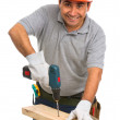 Royalty-Free Stock Photo: Isolated manual worker