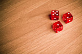 Texas holdem with dice — Stockfoto