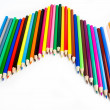 Beautiful wave of colored pencils — Stock Photo