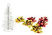 Vánoční strom před jeho stín — Stock fotografie