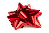 Single Red Christmas Bow — Stock Photo