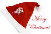 クリスマス帽子飾り玉 — ストック写真