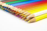 Many colored pencils in the office — Stock Photo