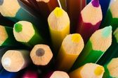 Bits of colorful pencils — Stock Photo