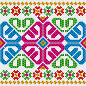 Traditional Mexican ornaments set — Stock Vector