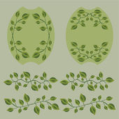 Olive Branches Set — Stock Vector