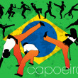 Royalty-Free Stock Vector Image: 12 Capoeira Silhouettes Set