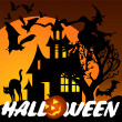 Royalty-Free Stock Векторное изображение: Halloween Greeting Card