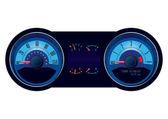 Racing Car Speedometer — Stock Vector