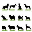 Royalty-Free Stock Vector Image: Dogs Silhouettes Set