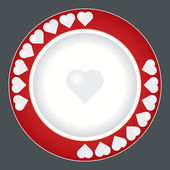 Dinner Plate Design — Stock Vector