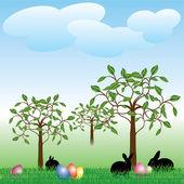 儿童复活节贺卡 — 图库矢量图片