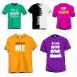 Fun T-shirts Set — Stock Vector