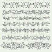 Vintage Floral Elements Set — Stock Vector