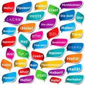 "38 ways to say ""Hello"" — Stock Vector"