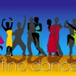 Latino Dancers Silhouettes Set - Stock Vector