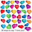 "Stok Vektör: 36 Ways to Say ""I love you"""