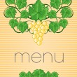 Stock Vector: Vintage Menu Cover Design