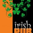 Irish Pub Menu Cover Design — Stock Vector