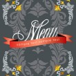 Royalty-Free Stock Vector Image: Vintage Menu Cover Design