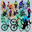 Mountain Bikes Set - Image vectorielle
