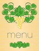 Vintage Menu Cover Design — Stock Vector