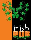 Irish Pub Menu Cover Design — Stock Vector