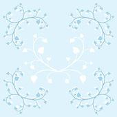Set di ornamenti floreali vintage — Vettoriale Stock