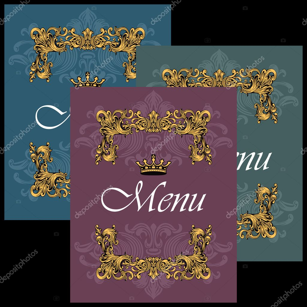 Vintage Menu Cover Design — Stock Vector #6822057