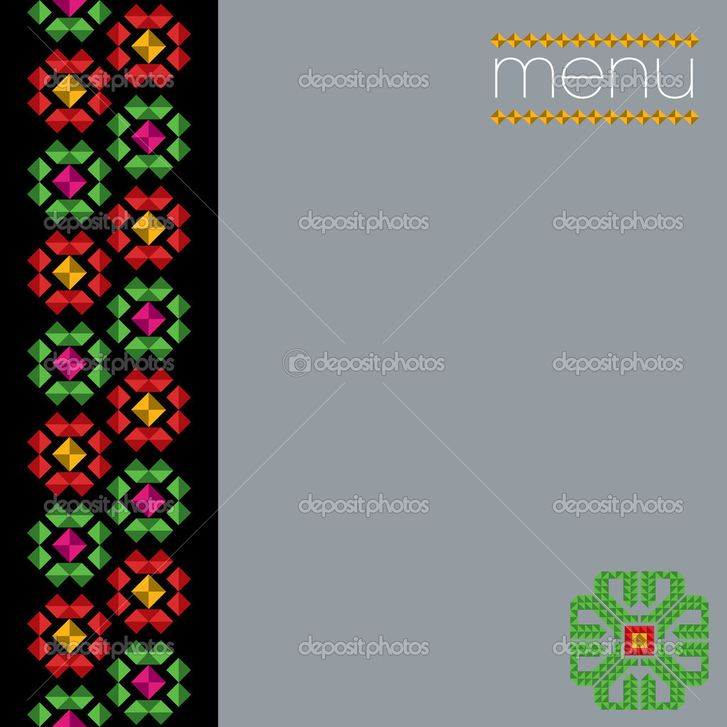 Mexican Menu Cover Design — Stock Vector #6822067