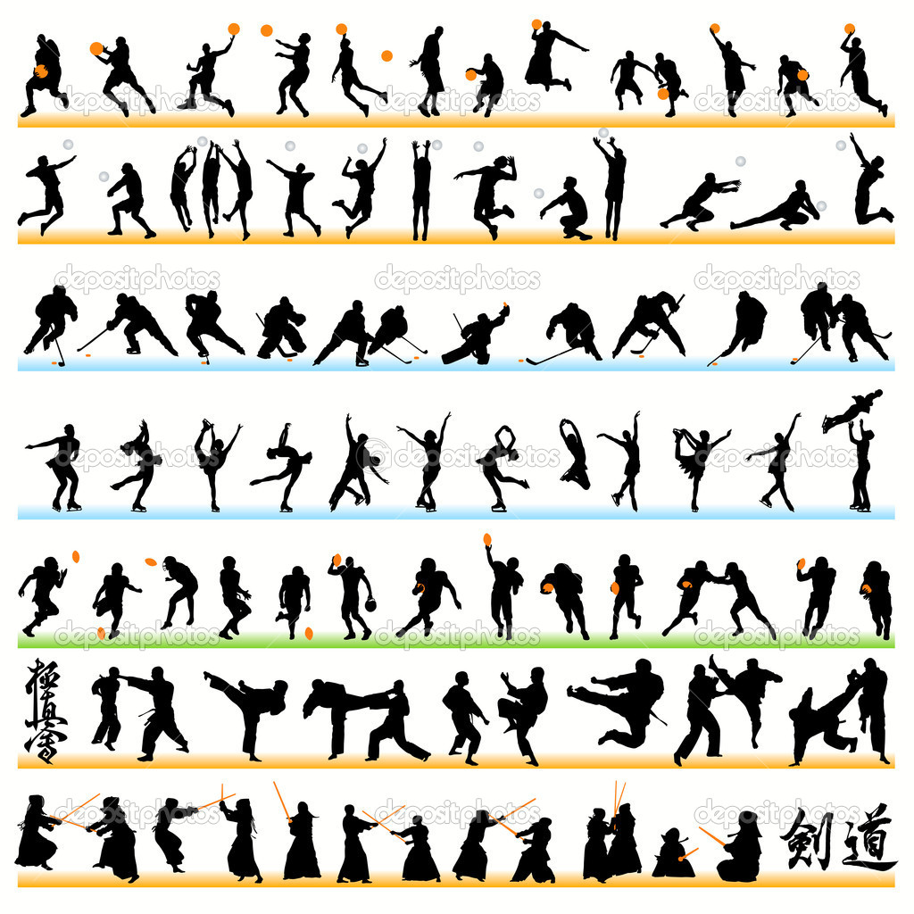 L90 Sport Photo http://depositphotos.com/6828734/stock-illustration-90-Sport-Silhouettes-Set.html