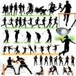 50 Sports silhouettes set — Stock Vector #6877983