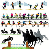 34 Sport silhouettes set — Stock Vector