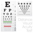 Distance Visual Acuity Test — Stock Vector