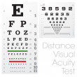 Distance Visual Acuity Test — Vettoriali Stock