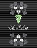 Vintage wijnkaart cover ontwerp — Stockvector