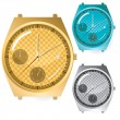 Stock Vector: Chronograph Watches Set