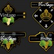 Vintage Wine Labels Set — Vector de stock #6913072