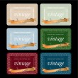 Vintage Wine Labels Set — Stock Vector