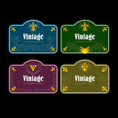 Vintage wijnetiketten set — Stockvector