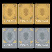 Vintage Wine Labels Set — Stock Vector