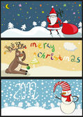 3 christmas banners in vector — Stock Vector