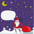 Cartoon Santa with Bubble — Stock Vector