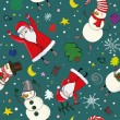 Seamless christmas pattern — Stockvectorbeeld