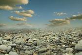 Sky and stones — Stock Photo