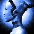 Robotic girl - Stock Photo