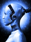 Robotic girl — Stock Photo