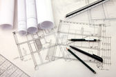 Architecture planning a building — Stock Photo