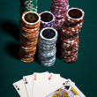 Poker Gambling — Stock Photo