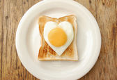 Egg and toasted bread — Stock Photo